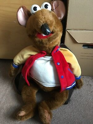 """Disney The Muppets Show 20"""" Rizzo Muppet Backpack  Plush  Soft Toy"""