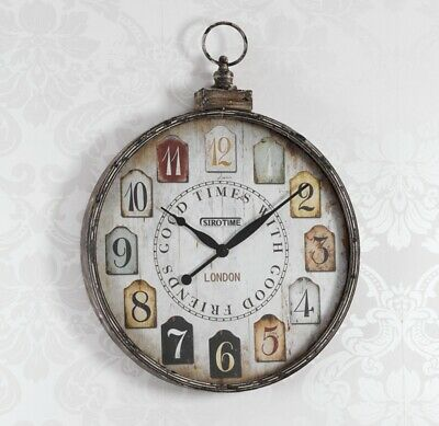 Wall Clock Good Times Shabby Chic Antique White