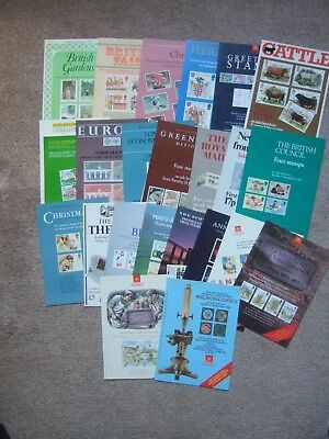 GREAT BRITAIN 23 DIFFERENT ROYAL MAIL POST OFFICE STAMP PUBLICITY POSTERS 1980's