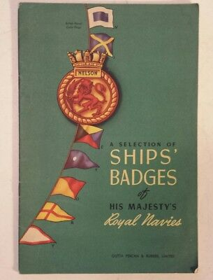 """Rare Excellent """"gutta Percha & Rubber Issued -  Royal Navy Ships Badges"""" Booklet"""