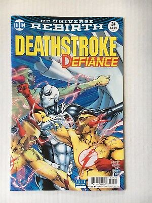 DC Comics: Deathstroke #24 Variant Cover (2017) - BN - Bagged and Boarded