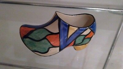 Clarice Cliff Double V Sabot Clog