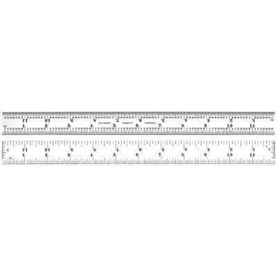 Starrett C604RE-12 Spring Tempered Steel Rule with Inch Graduations