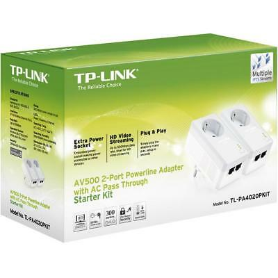 TP-Link Powerline Ethernet Adapter 500Mbps TL-PA4020PKIT ** TL-PA4020PKIT