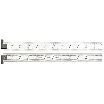 Starrett CH604R-12 Spring-Tempered Steel Rule with Inch Graduations