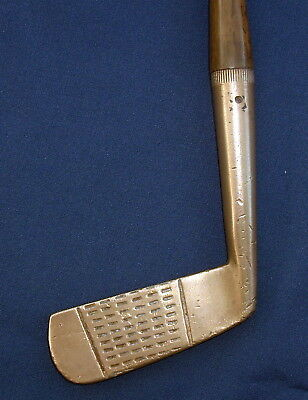 Vintage Hickory Shafted Brass Putter C1900s - Craigie, Montrose