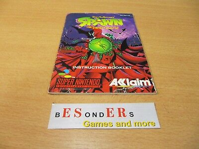 SNES Super Nintendo, SPAWN the video game , ANLEITUNG - TOP