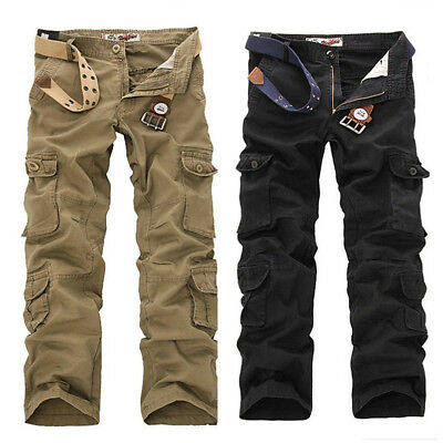 2f8b6cfd52 US Men Military Cargo Combat Work Trousers Army Casual Cotton Pants Size  28-38