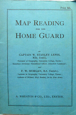 WW2 MAP READING FOR THE HOME GUARD BOOK 1940's