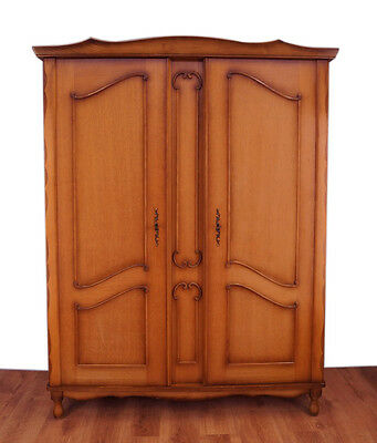 Impressive French carved two doors wardrobe/armoire