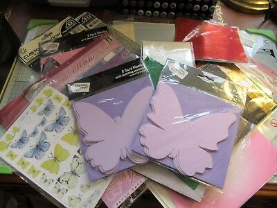 Bundle Of Glitter Card, Speciality & Handmade Papers & Shaped Cards - 260 Items