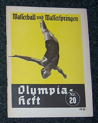 OLYMPICS 1936  Booklet No. 20 - Water Polo & Diving.