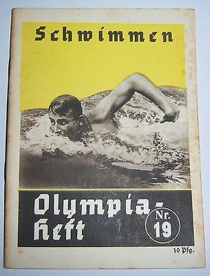 OLYMPICS 1936  Booklet No. 19 - Swimming.
