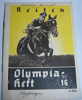 OLYMPICS 1936 Booklet No16 - Riding / Equestrian events