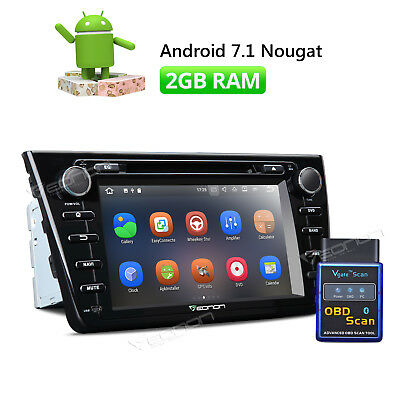 """8"""" Android 7.1 Car Stereo DVD GPS Navigation for Mazda 6 HDMI Bluetooth +OBDII A"""