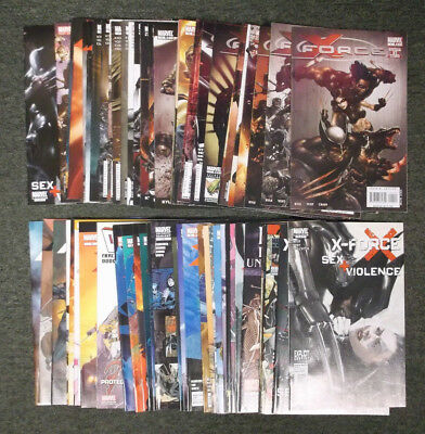 Marvel X-Force Comic Book Lot of 58 Issues Cable Uncanny