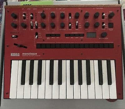 Korg Monologue analog synthesizer red synth