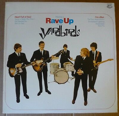 THE YARDBIRDS Having A Rave Up With LP CHARLY 1965re JAP Stereo+insert JEFF BECK
