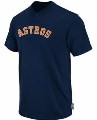 Houston Astros Majestic Cool Base 2 Button Replica Jersey Shirt Men's & Youth