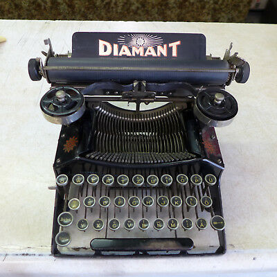 "Rare Vintage Antique ""diamont"" Typewriter With Only 3 Rows Of Keys"