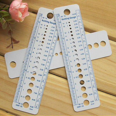 High Quality 1 PCS Knitting Needle Rulers Plastic Sweaters Weaving Tools Nice