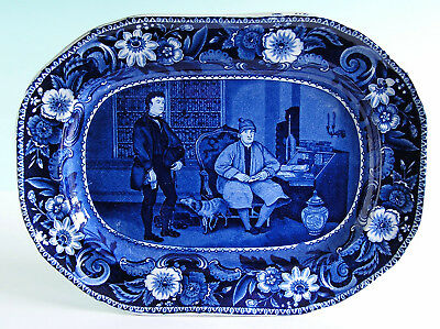 Clews Historical Staffordshire Transferware LETTER OF INTRODUCTION Platter 1825