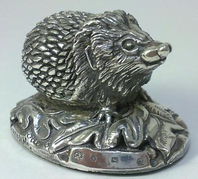 Vintage hallmarked Sterling Silver Hedgehog Figurine –1994 by Camelot Silverware