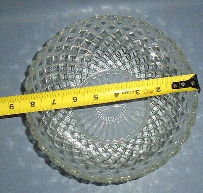"""VTG Anchor Hocking WATERFORD CLEAR Fruit Bowl 8-1/4"""""""