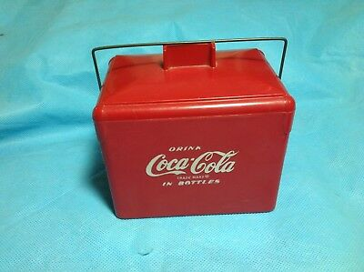 1950's Coca Cola in bottles toy picnic cooler
