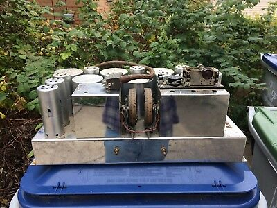 Antique 1930s EH Scott AW 12 Radio Chassis Chrome w/ Tube Covers All Wave