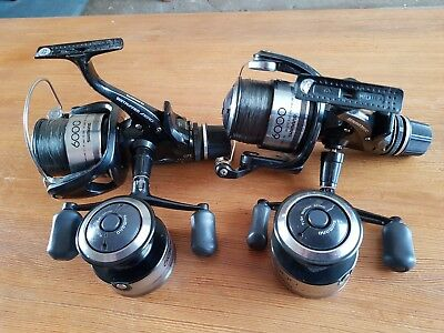 2 Shimano Baitrunner Aero Gte 6000C Reels Come With Spare Spools