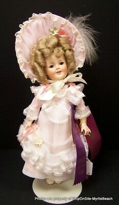 """Shirley Temple 13"""" Doll Made by Thelma Resch with Stand **Free S&H**"""