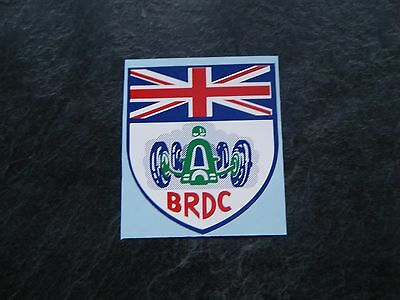 BRDC British Racing Drivers Club exterior decal 70mm x 60mm NEW Very exclusive.