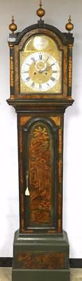 Antique Chinoiserie Longcase Clock by Benjamin Sudlon - Georgian Japanned Clock