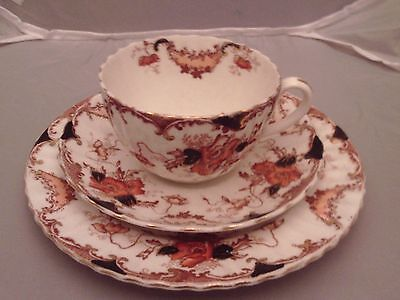 Victorian trio of cup, saucer and tea plate
