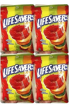 4 Packs Lifesavers Five Flavour Hard Candy Individually Wrapped Candy 150g x 4