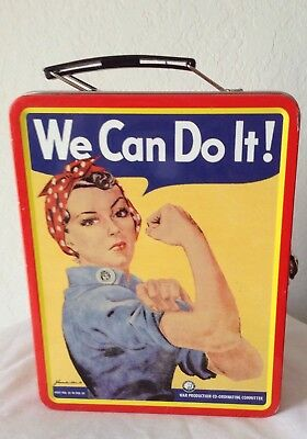 "Vintage Reproduction Of WW II Poster ""We Can Do It"" LUNCH BOX"