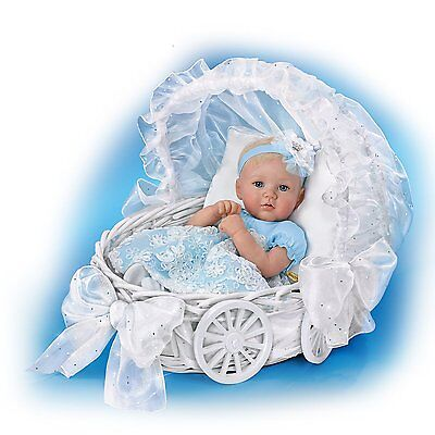 Ashton Drake Ella,My Little Princess baby doll by Marissa May with Wicker Basket