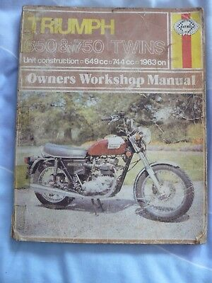Haynes TRIUMPH 650 & 750 TWINS Owners Workshop Manual