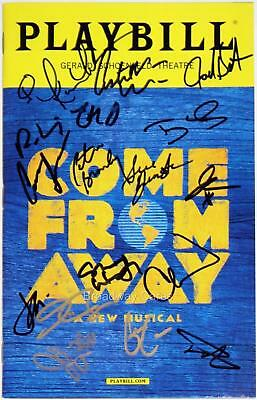 COME FROM AWAY Full Cast Rodney Hicks Signed Opening Night Playbill