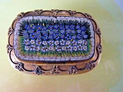 Vintage Micro Mosaic Snuff or Patch Box