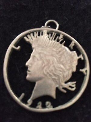 1922 Peace Silver Dollar Lady Liberty Cut Out Coin Jewelry