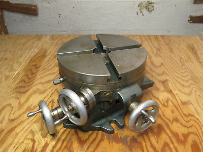 """8""""rotary table with x y axis -- Looks Like Palmgren /  Craftsman"""