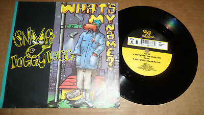 Snoop Doggy Dogg What's My Name?' A8337 Death Row Records 1993 Uk Issue