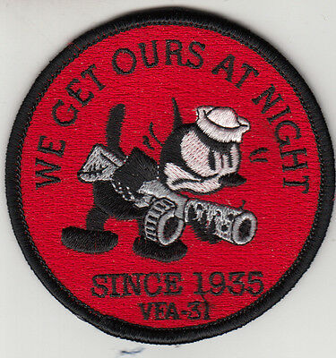 Vfa-31 Tomcatters We Get Ours At Night Since 1935 Shoulder Patch