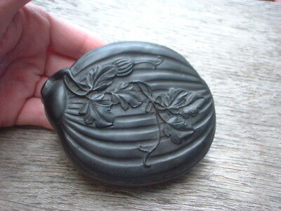 Japanese Chinese ? carved figures  & scenes in a nut resin miniature vintage ?