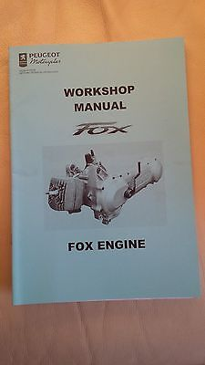 Peugeot Scooter Fox Engine Workshop Manual
