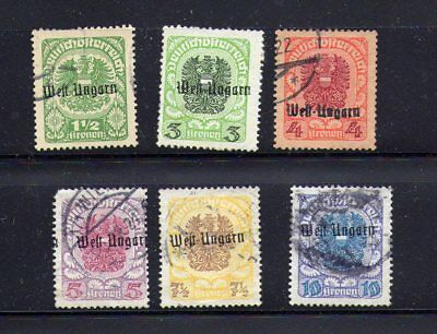 Austrian Cinderellas...west Ungarn, Locals, Used, On Stock Sheet...
