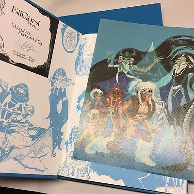 ELFQUEST Hardcover III 3 Comic BOOK in Slipcase w/ plate, s/n'd, Wendy / R. Pini