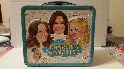 vintage 1978 aladdin Charlie's Angels metal lunch box without thermos